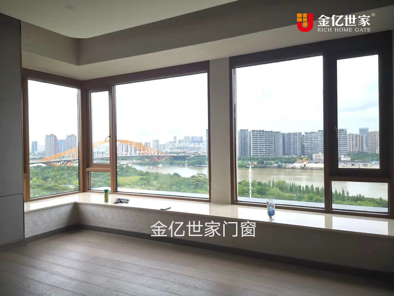 全屋门窗定制厂家金亿世家门窗经典案例:超大面积玻璃 全视野江景